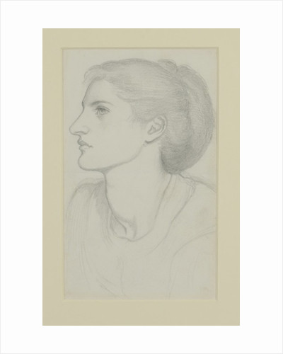 Woman's Head by Dante Gabriel Charles Rossetti
