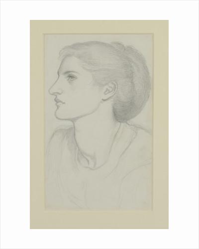 Woman's Head by Dante Gabriel Charles Rossetti