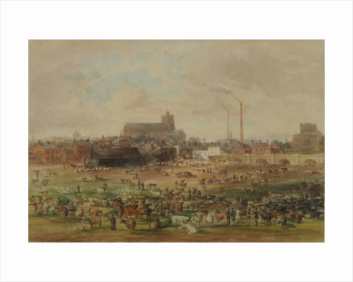 The Sands, Carlisle - The Cattle Market by William Henry Nutter