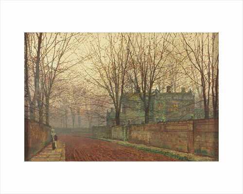 November Morning, Knostrop Hall, Leeds by John Atkinson Grimshaw