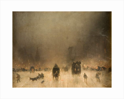 A Foggy Night in London by James Abbott McNeill Whistler