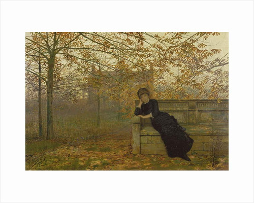 Autumn Regrets, 1882 by John Atkinson Grimshaw