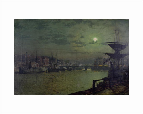 Baiting the Lines, Whitby, 1884 by John Atkinson Grimshaw