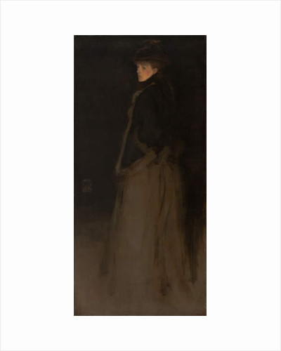 Arrangement in Black and Brown, the Fur Jacket by James Abbott McNeill Whistler