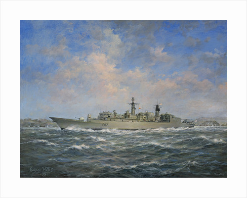 H.M.S. Chatham Type 22 (Batch 3) Frigate by Richard Willis