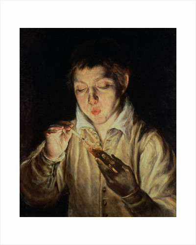 A Child Blowing on an Ember, early 1570s by El Greco