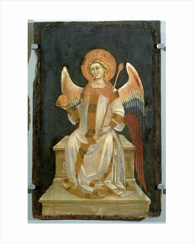Angel Seated on a Throne, the Orb in one hand, the Sceptre in the other by Ridolfo di Arpo Guariento