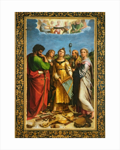 St. Cecilia surrounded by St. Paul, St. John the Evangelist, St. Augustine and Mary Magdalene by Raphael