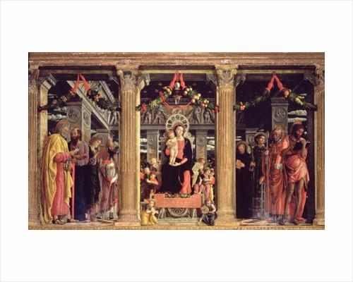 Altarpiece of St. Zeno of Verona by Andrea Mantegna