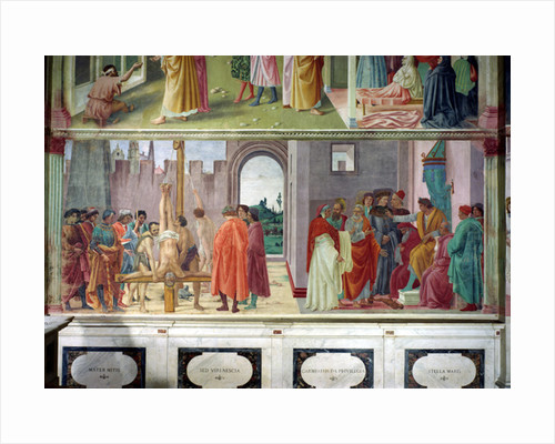 The Dispute with Simon Mago and the Crucifixion of St. Peter by Filippino Lippi