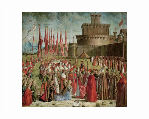 The Pilgrims Meet Pope Cyriac before the Walls of Rome by Vittore Carpaccio