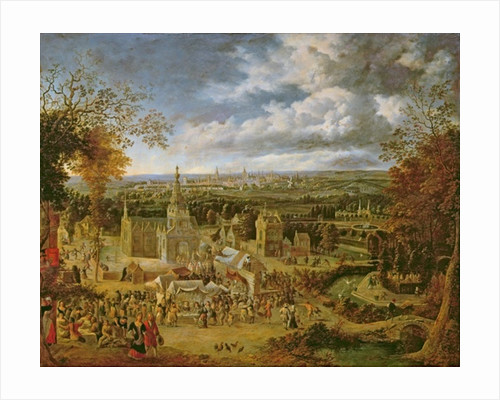 A Fete and View of a City by Jan Griffier