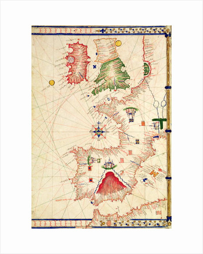 Ms Ital 550.0.3.15 fol.2r Map of Europe by Jacopo Russo
