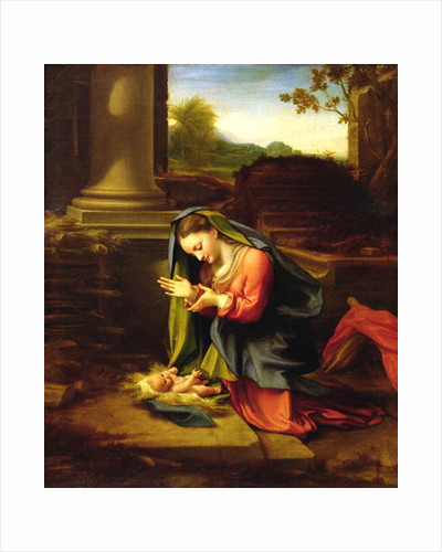 Our Lady Worshipping the Child by Correggio