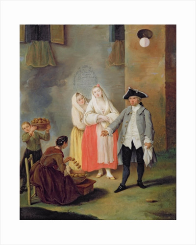 The Seller of Fritters by Pietro Longhi