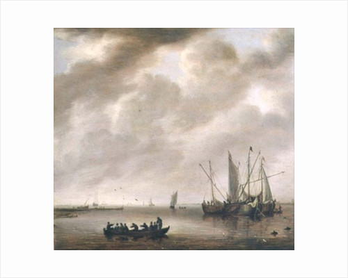The Calm Sea by Willem van Diest