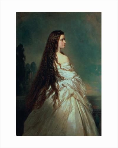 Elizabeth of Bavaria, wife of Emperor Franz Joseph I of Austria by Franz Xaver Winterhalter