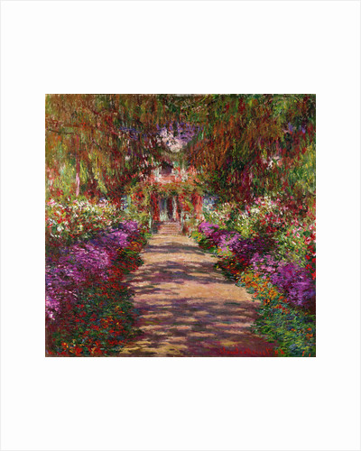 A Pathway in Monet's Garden, Giverny by Claude Monet