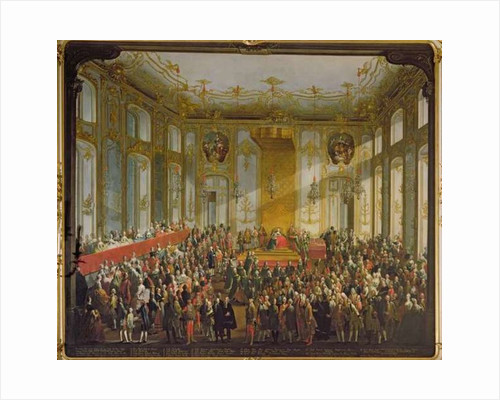 Empress Maria Theresa at the Investiture of the Order of St. Stephen by Martin II Mytens or Meytens