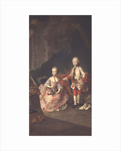 Two children of Empress Maria Theresa of Austria Leopold and his sister Princess Maria Christine by Martin II Mytens or Meytens