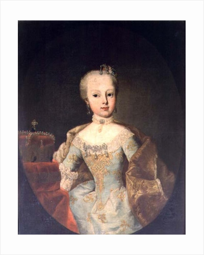 Archduchess Maria Josepha Habsburg-Lothringen, twelveth child of Empress Maria Theresa of Austria and Emperor Francis I by Martin II Mytens or Meytens