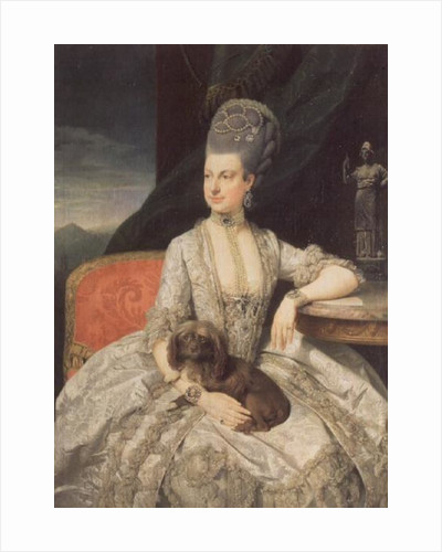 Archduchess Maria Christine Habsburg-Lothringen, daughter of Empress Maria Theresa of Austria and Emperor Francis I of Austria by Johann Zoffany