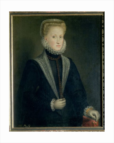 Anne of Austria, Queen of Spain, wife of Philip II of Spain by Sofonisba Anguissola