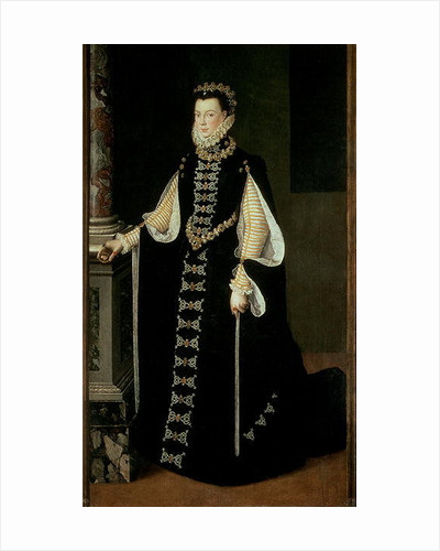 Isabella of Valois, Queen of Spain, wife of King Philip II of Spain by Sofonisba Anguissola