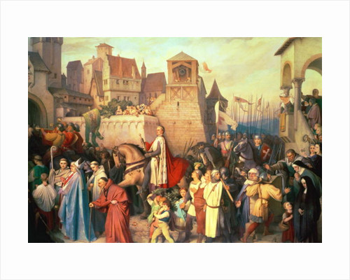 Duke Leopold the Glorious enters Vienna on his return from the Crusades by Josef Mathias Trenkwald