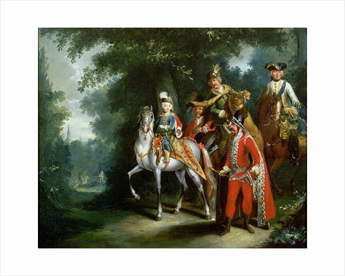Joseph II, Emperor of Germany learning to ride at the age of six by Johann Elias Ridinger or Riedinger