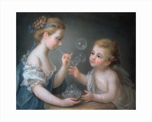 Children blowing bubbles by Jean-Etienne Liotard