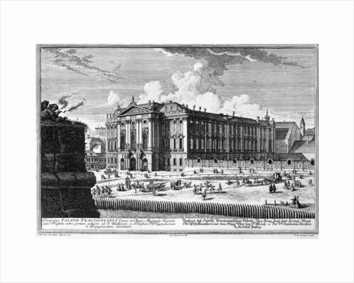 View of the Trautson Palace by Salomon Kleiner