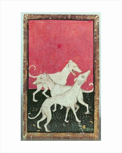 Three hunting dogs by Konrad Witz