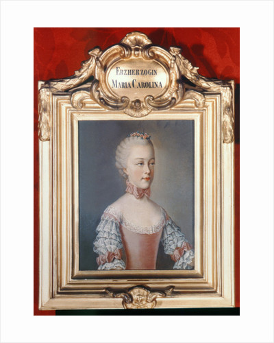Archduchess Maria Caroline of Austria daughter of Emperor Francis I and Emperor Maria Theresa of Austria by Jean-Etienne Liotard
