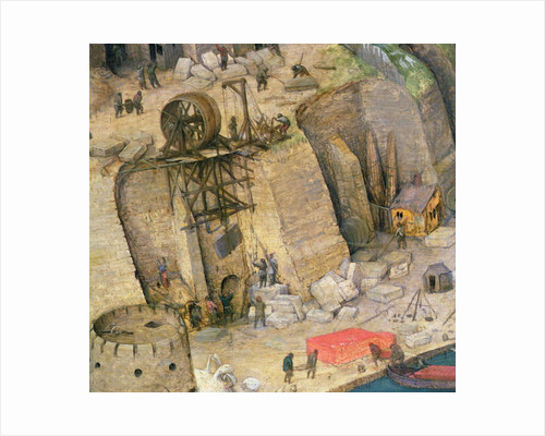 The Tower of Babel, detail of the construction works by Pieter Bruegel the Elder