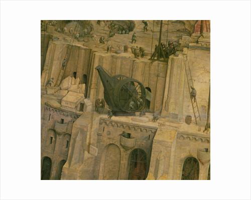The Tower of Babel, detail of construction work by Pieter Bruegel the Elder