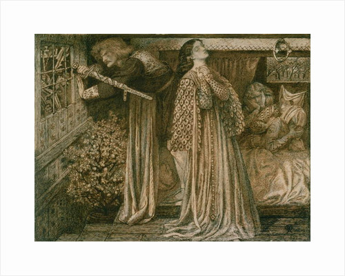 Sir Lancelot in the Queen's Chamber, 1857 by Dante Gabriel Charles Rossetti
