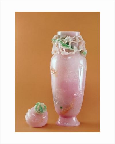 Jade Dragon Vase by Burmese School