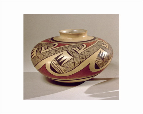Hopi 'Bullware' jar by American School