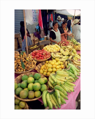 Fruit and vegetable stall by Unknown