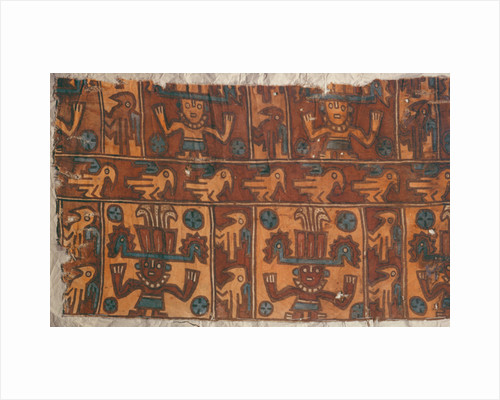 Cloth with gods and birds, Tiahuanaco Culture by Peruvian School