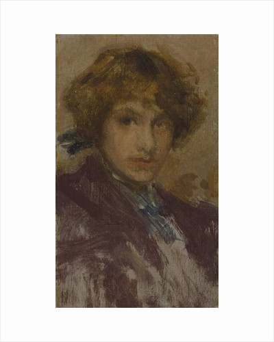 Study of a Young Girl's Head and Shoulders, 1896-97 by James Abbott McNeill Whistler