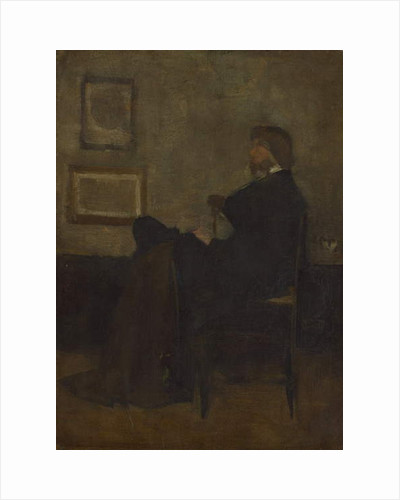 Study for Arrangement in Grey and Black, No. 2: Thomas Carlyle, 1872-73 by James Abbott McNeill Whistler