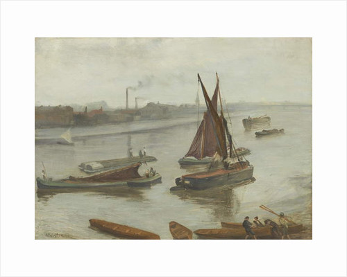 Grey and Silver: Old Battersea Reach, 1863 by James Abbott McNeill Whistler