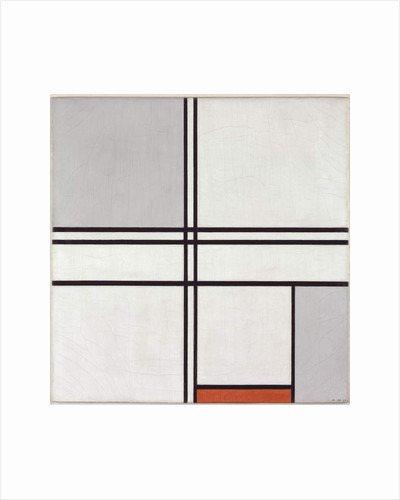 Composition Gray-Red, 1935 by Piet Mondrian