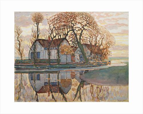 Farm near Duivendrecht, c.1916 by Piet Mondrian