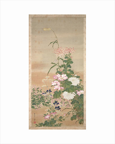 Flowers in autumn, 1826 by Abe Kan Torin