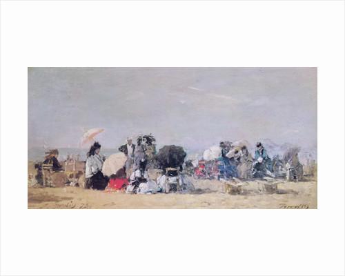 Beach Scene, Trouville by Eugene Louis Boudin