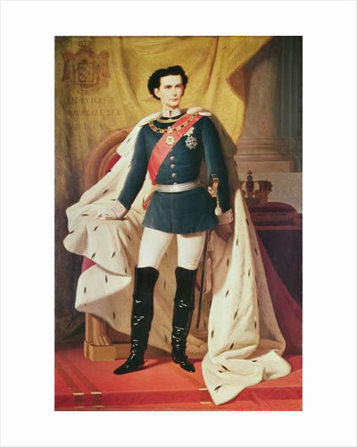 Portrait of Ludwig IIof Bavaria in uniform by Ferdinand II Piloty