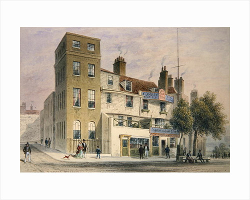 The Old George on Tower Hill by Thomas Hosmer Shepherd